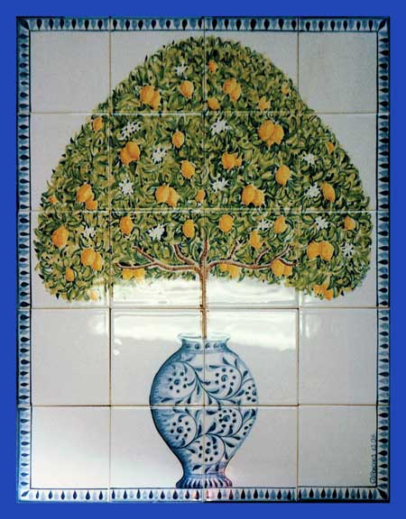 Lemon Tree Tile Panel 01