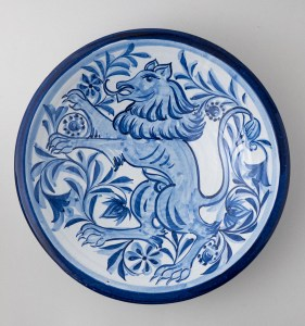 Rampant Lion Bowl by Estella Swift Goldmann