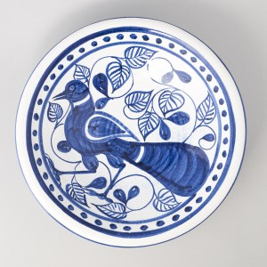 Bird and Figs Dish, by Estella Swift Goldmann