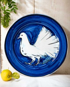 White Dove plate by Juliet Swift